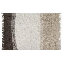 "Lorena Canals Forever Always Modern White Wool Grey Shag Rug - 4'7""x6'7"""