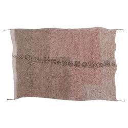 Lorena Canals Upendo Global Bazaar Pink Wool Shag Rug - 5'7''x7'10''