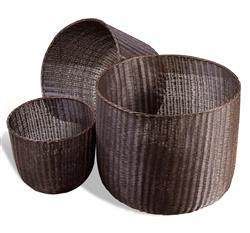Lohman Contemporary Modern Metal Woven Mesh Baskets- Antique Bronze | 845002