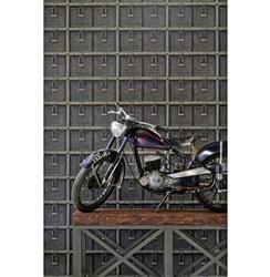 Wire Basket Oxidized Metal Industrial Wallpaper - 2 Rolls