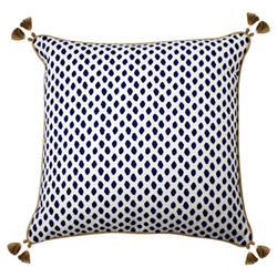 Lacefield Sahara Modern Classic Midnight Tassled Pillow - 22x22