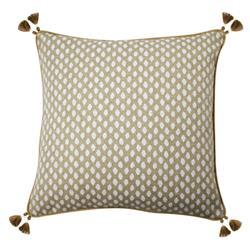 Lacefield Sahara Modern Classic Chalk Tassled Pillow - 22x22