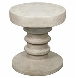 Callista Global Bazaar White Cement Side End Table