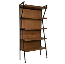 Brennan Industrial Loft Modern Wood Metal Bookcase