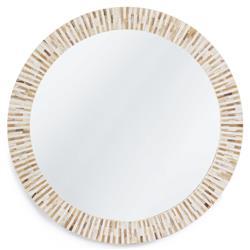 Regina Andrew Multitone Rustic Lodge Natural Brown Bone Frame Round Mirror
