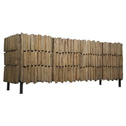 Nadir Global Bazaar Modern Reclaimed Wood Metal Sideboard