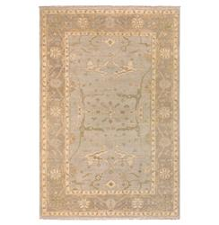 Versailles French Country Grey Beige Hand Knotted Wool Rug - 2'x3'