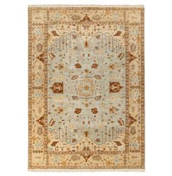 Reverie Grey Beige Global Bazaar Oriental Hand Knotted Wool Rug - 8x11