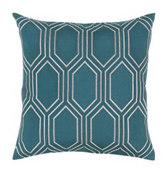 Sylvia Hollywood Regency Linen Down Teal Pillow - 18x18
