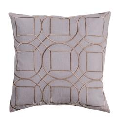 Goldie Hollywood Regency Linen Down Grey Pillow - 20x20