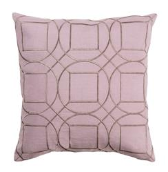 Goldie Hollywood Regency Linen Down Pink Pillow - 22x22