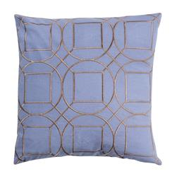 Goldie Hollywood Regency Linen Down Light Blue Pillow - 22x22