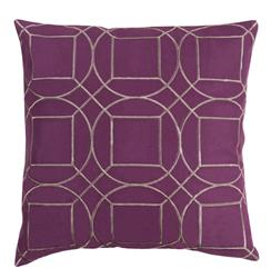 Goldie Hollywood Regency Linen Down Maroon Pillow - 22x22