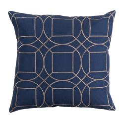 Goldie Hollywood Regency Linen Down Navy Pillow - 22x22