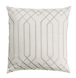 Jillian Hollywood Regency Linen Down White Pillow - 18x18