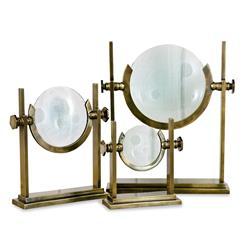 Willet Antique Brass Magnifying Glasses- Set of 3