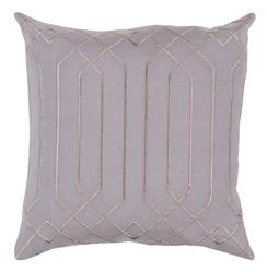 Jillian Hollywood Regency Linen Down Taupe Pillow - 18x18
