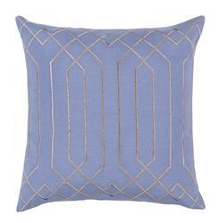 Jillian Hollywood Regency Linen Down Light Blue Pillow - 18x18