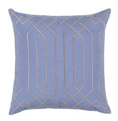Jillian Hollywood Regency Linen Down Light Blue Pillow - 22x22
