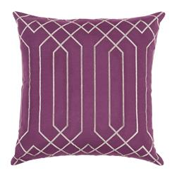 Jillian Hollywood Regency Linen Down Maroon Pillow - 18x18