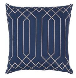 Jillian Hollywood Regency Linen Down Navy Pillow - 22x22