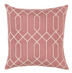 Kylie Hollywood Regency Linen Down Salmon Pillow - 18x18