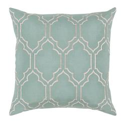 Keira Hollywood Regency Linen Down Light Teal Pillow - 18x18