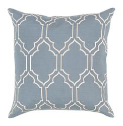 Keira Hollywood Regency Linen Down Light Blue Pillow - 18x18