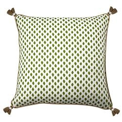 Lacefield Sahara Modern Classic Herb Tassled Throw Pillow - 22x22