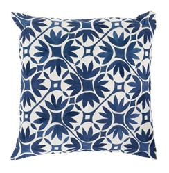 Dades Global Bazaar Cotton Down Navy Tile Pillow - 18x18