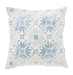 Dades Global Bazaar Cotton Down Light Blue Tile Pillow - 18x18