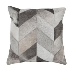 Dakota Rustic Lodge Chevron Hair on Hide Pillow - 18x18