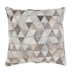 Aviston Rustic Lodge Triangle Hair on Hide Pillow - 18x18
