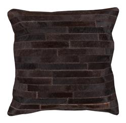 Ewing Rustic Lodge Tile Hair on Hide Pillow - 18x18