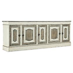 Penelope French Country White Oak Wood Antique Buffet Sideboard