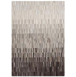Resham Global Bazaar Vertical Tile Grey Brown Ombre Cowhide Rug - 2x3