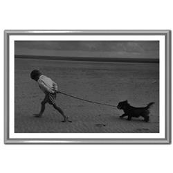 Soicher Marin Erich Auerbach Walking The Dog Camber Sands1959 White - 25x17