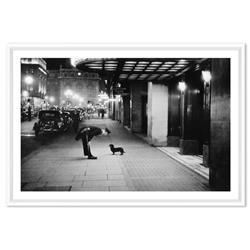 Kurt Hutton Commissionaires Dog in Piccadilly Circus London1938, White Frame - 25x17