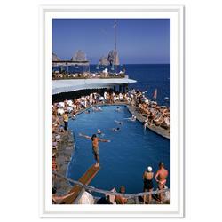 Slim Aarons Marina Piccola Capri Italy 1954, White Frame - 17x25
