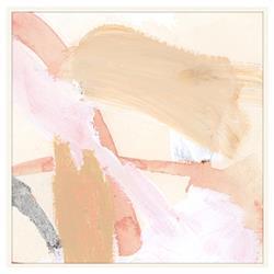 Zoe Bios Desert Blush Painting Matte White Frame - 20x20
