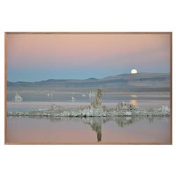 Zoe Bios Rustic Lodge Walnut Brown Frame Super Moon 2 Photograph - 32x24