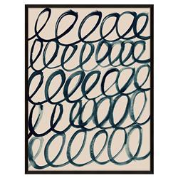 Zoe Bios Cursive 2 Painting Matte Black Frame - 24x32