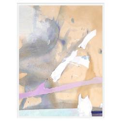 Zoe Bios Arial Desert Matte Painting White Frame - 24x32