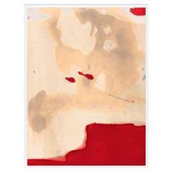 Zoe Bios Red Rock Painting Matte White Frame - 24x32