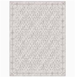 Calandra Silver Hand Knotted Tibetan Wool Rug - 4' x 6' | NSB-9408-SILVER-4X6