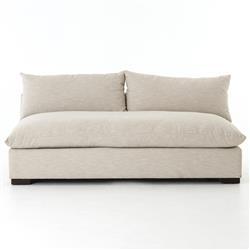 Cee Modern Classic Beige Performance Upholstered Armless Sofa