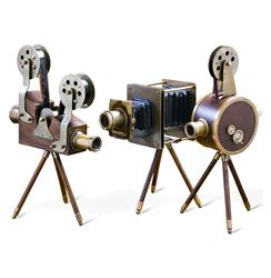 Set of 3 Watsons Wood & Brass Vintage Reproduction Film Sets | 997102