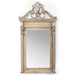 Chelsea House French Country Antique Silver Wood Grand Entrance Wall Mirror