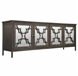 Bobby Global Bazaar Mirror 4 Door Dark Grey Sideboard Cabinet
