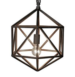 Noir Diamond Industrial Loft Diamond Metal Pendant Light
